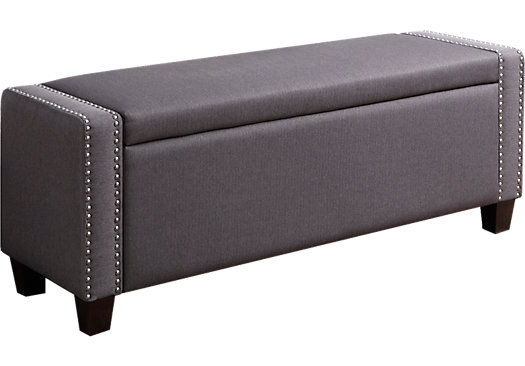 Achelle Slate Storage Bench
