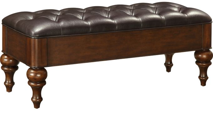 Allen Brown Storage Bench