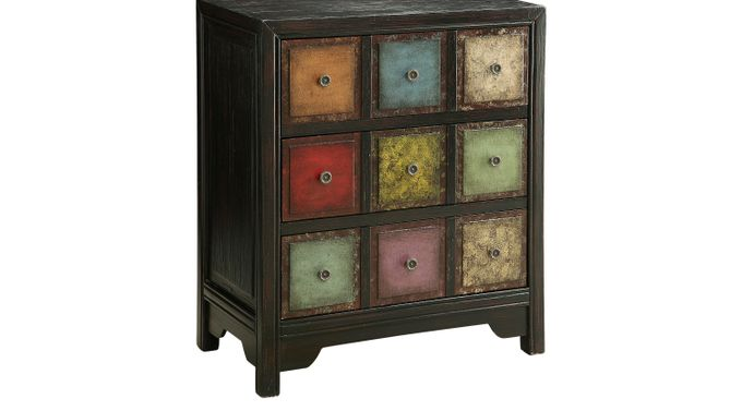 Abilene Black Accent Cabinet Contemporary