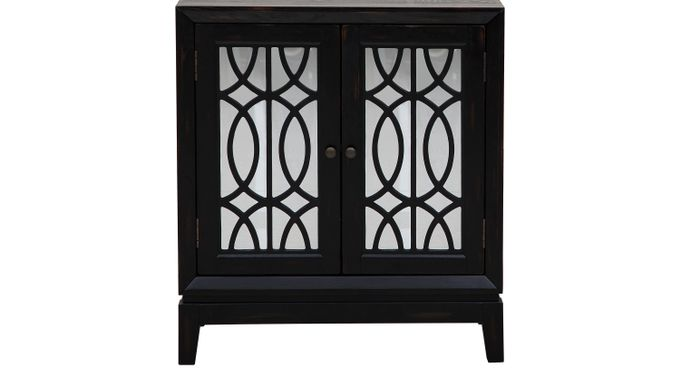 Abiola Black Accent Cabinet