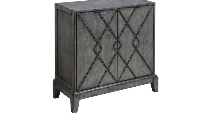 Aqua (light blue) n Gray Accent Cabinet - Contemporary