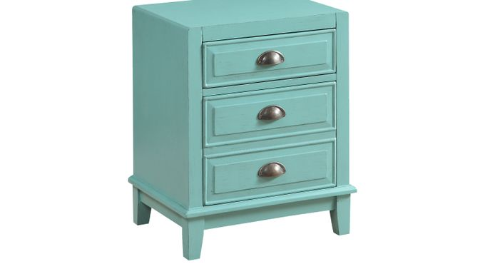 Brisk Teal File Cabinet - Contemporary