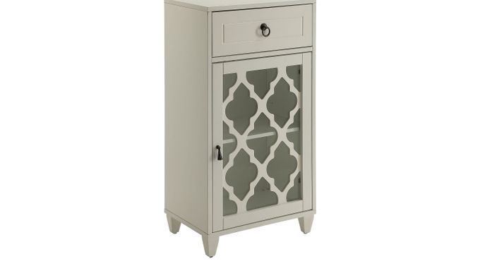 Ceara White Accent Cabinet