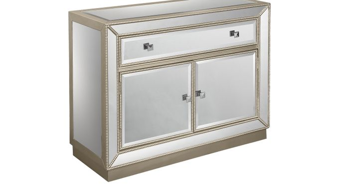 Elsinore Champagne Accent Cabinet - Contemporary
