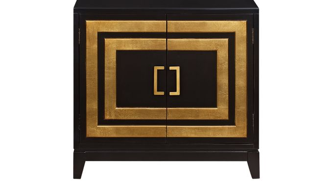 Kenton Black Accent Cabinet