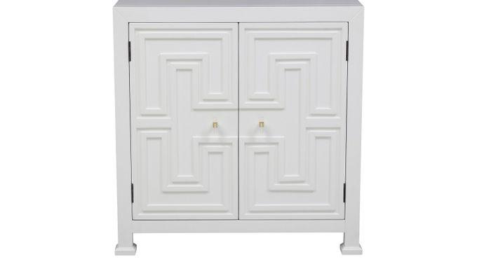 Roselawn White Accent Cabinet - Transitional