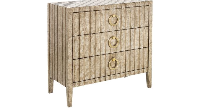 Sopely Beige Accent Cabinet - Contemporary
