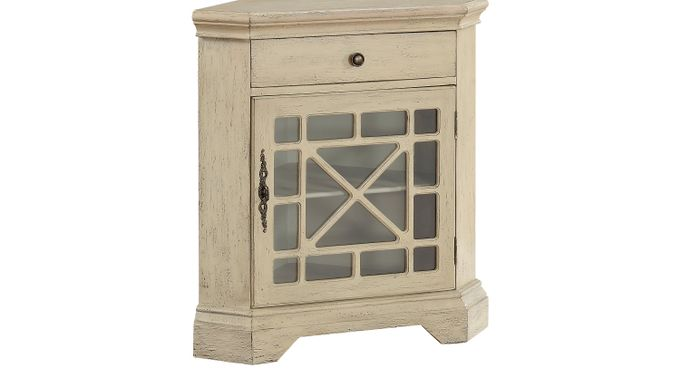 Staci Ivory (off-white)  Accent Cabinet