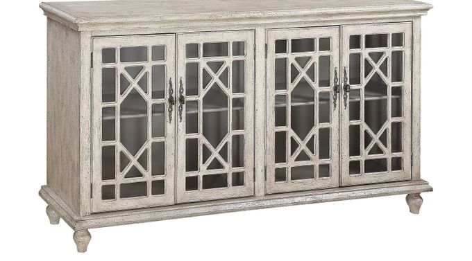 Swansboro Ivory (off-white)  Accent Console - Traditional