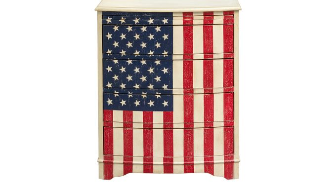US Flag Accent Cabinet