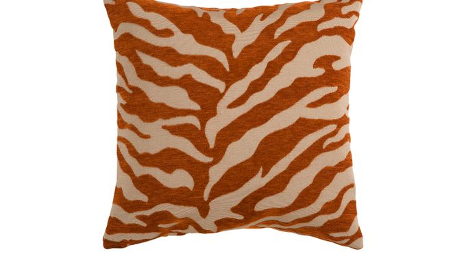 Color (alternate) ful Zebra Orange Accent Pillow - Contemporary