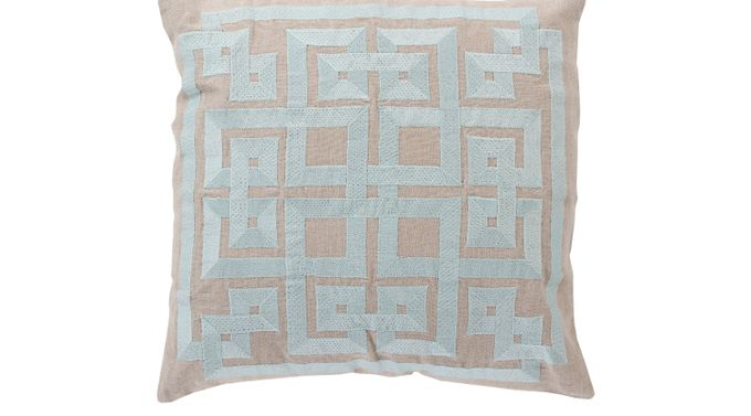 Intersected Geometrics Aqua (light blue)  Accent Pillow - Transitional