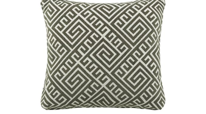 iSofa Cyrus Graphite (black)  Accent Pillows (Set of 2) 100% Polyester
