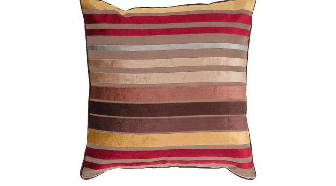 Sparkling Stripe Camel (tan)  Accent Pillow - Contemporary