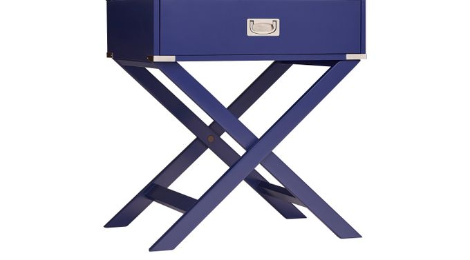 Bowen Navy Accent Table - Transitional
