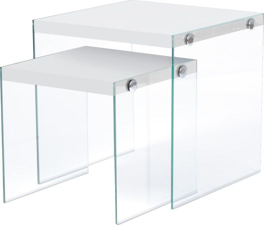 Housely White Nesting Tables - Contemporary