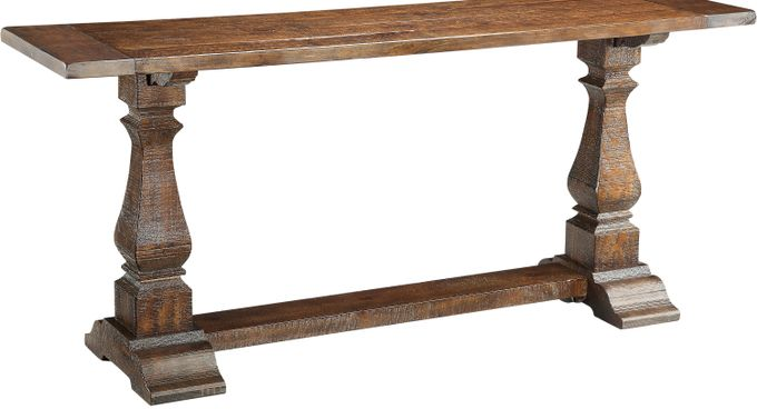 Raston Brown Accent Table - Rustic