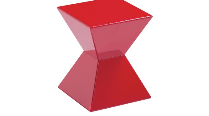 Rocco Red End Table - Square - Contemporary