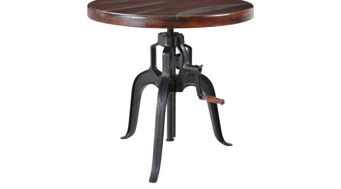 Serge Brown Bar Height Dining Table - Round - Transitional