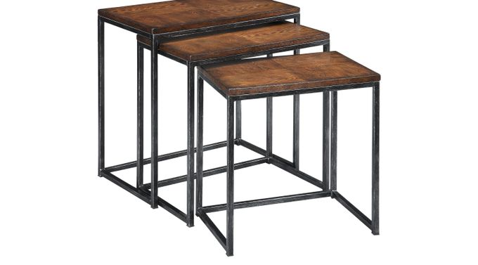 Vanler Cherry Nesting Tables - Transitional