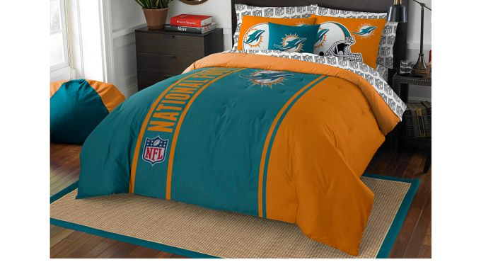 NFL Football Champ Dolphins Full Bed Set
