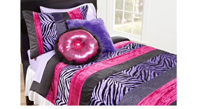 Purple Safari Twin Bed Set