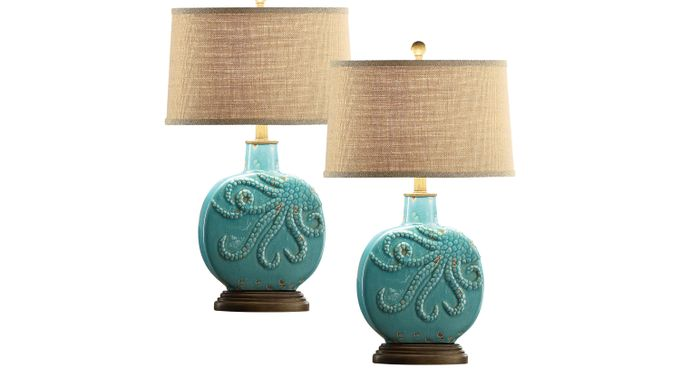 Bolton Spring Blue Set of 2 Lamps - Table
