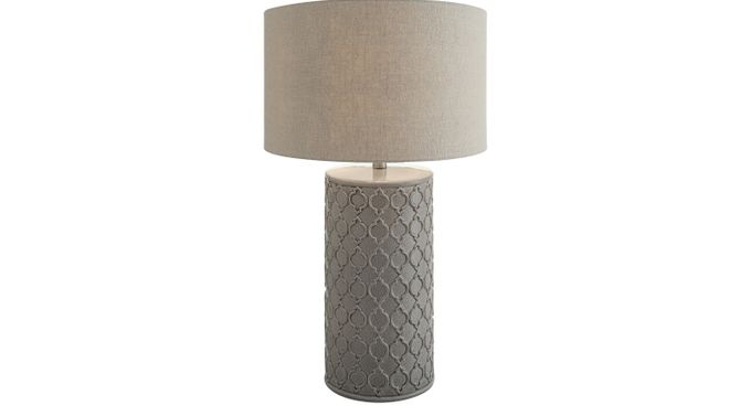 Francis Crossing Gray Lamp - Table