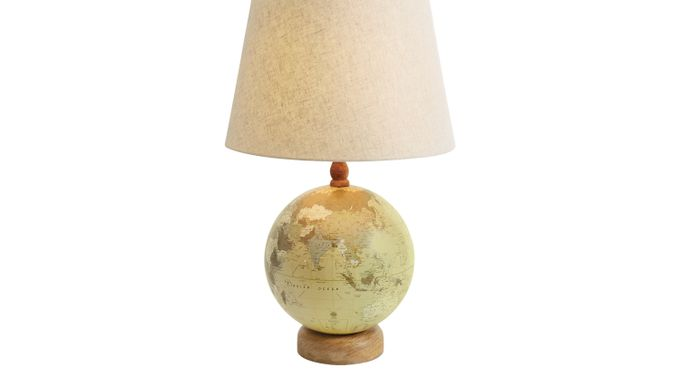 Traveling Soul Natural (cream)  Lamp - Table