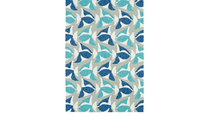 Aletta Blue 5' x 7'6 Indoor/Outdoor Rug - Casual