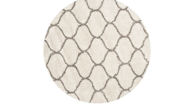 Alicia Ivory (off-white)  8' Round Rug