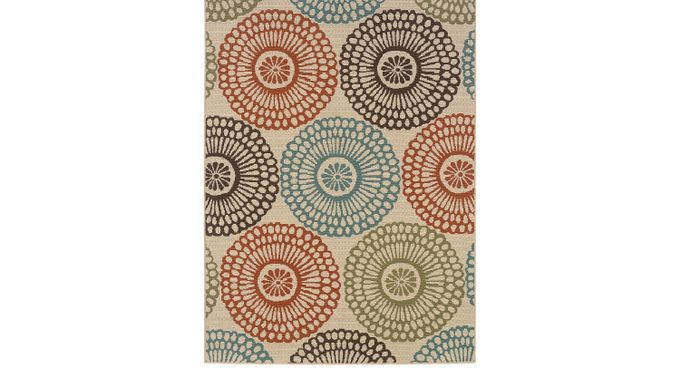 Alondra Blue 6'7 x 9'6 Indoor/Outdoor Rug - Montego [697J]