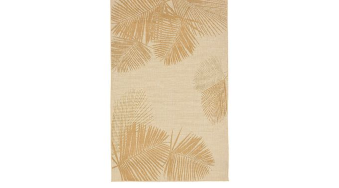 Bean Pointe Beige 4'10 x 7'6 Indoor/Outdoor Rug