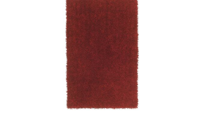 Brenard Red Shag 8 x 10 Rug - Casual, Polyester