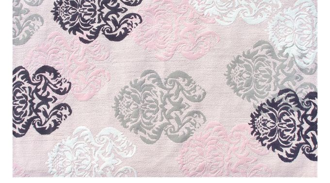 Broccato Pink 3' x 5' Rug Cotton