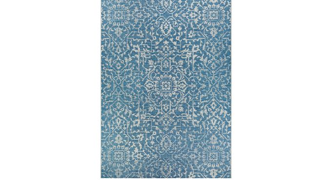 Dalmally Blue 5'3 x 7'6 Indoor/Outdoor Rug