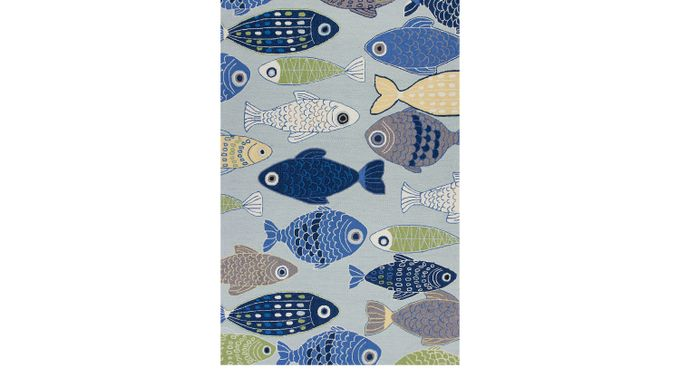 Damsel Harbor Blue 5' x 7'6 Rug