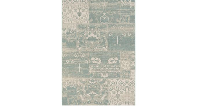 Fern Creek Green 5'3 x 7'6 Indoor/Outdoor Rug