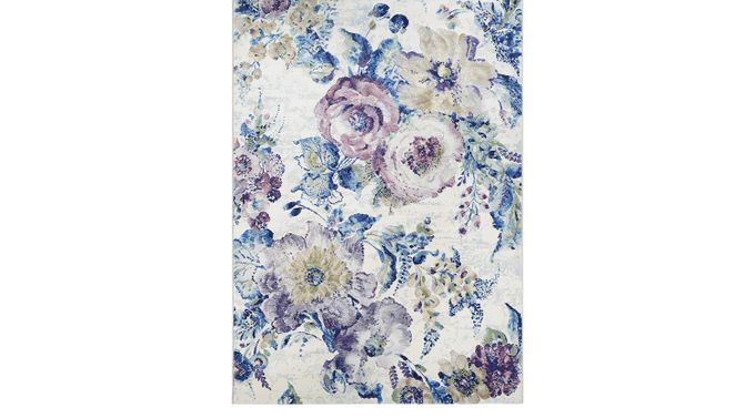 Floral Chic Blue 5'3 x 7'6 Rug