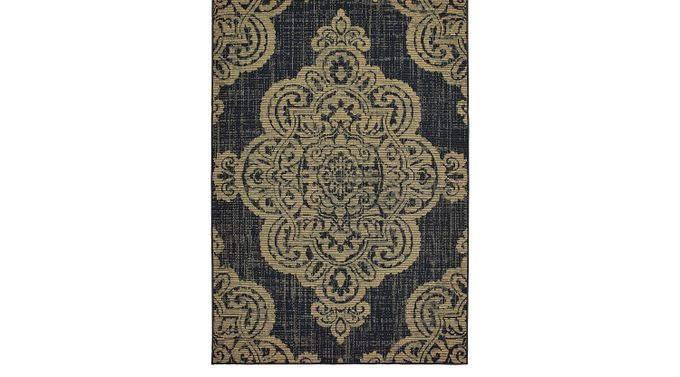 Hamiller Black 6'7 x 9'6 Indoor/Outdoor Rug - Marina [5929K]