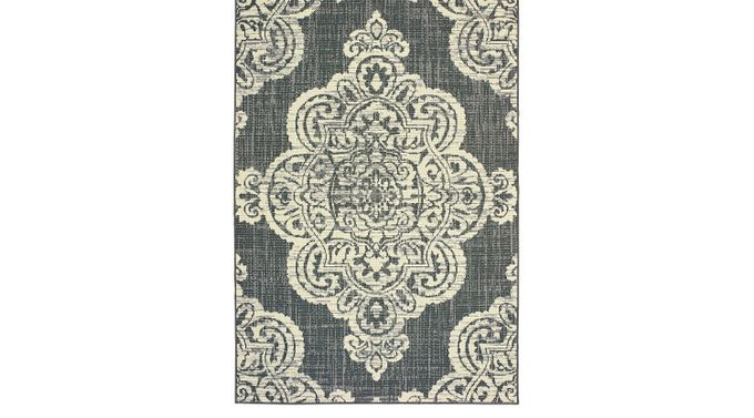 Hamiller Gray 5'3 x 7'6 Indoor/Outdoor Rug - Marina [5929E]