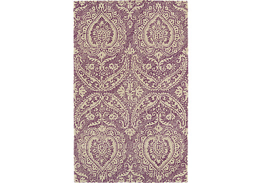 Karwick Purple 8 X 10 Indoor Outdoor Rug