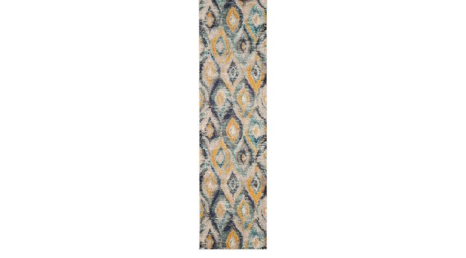 Midway Bay Blue 2'2 x 10' Runner Rug