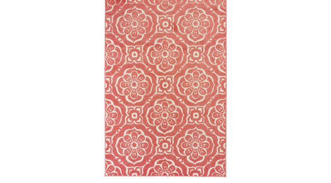 Moonvalley Pink 6'7 x 9'6 Rug - Barbados [539O]