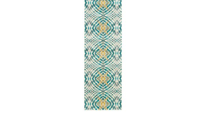 Neave Teal 2'7 x 8' Runner Rug - Transitional