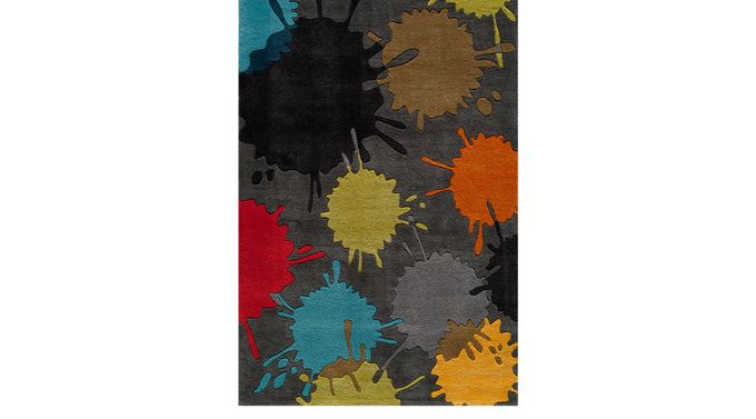 Paintball Gray 3' x 5' Rug