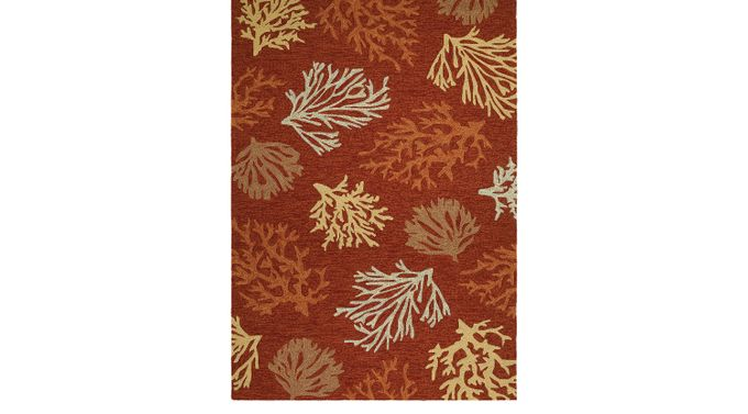 Sea Reef Brown 5'6' x 8' Indoor/Outdoor Rug - Casual