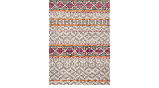 Sunray Place Gray 4' x 6' Rug