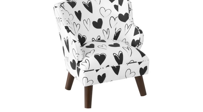 Kids Adley White Accent Chair - Upholstered