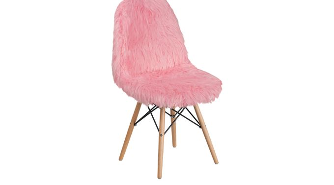 Crestmount Pink Accent Chair - Upholstered, Acrylic